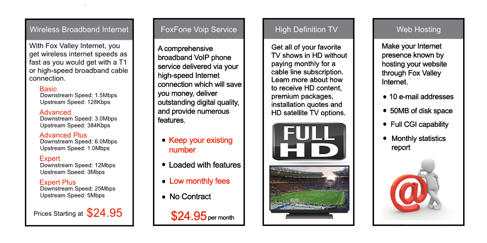 Fox Valley Internet - High Quality Internet Service Provider